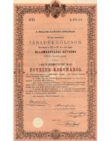 Royaume de Hongrie - Emprunt en rentes 4%