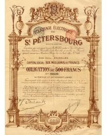 Eclairage Electrique de St Petersbourg