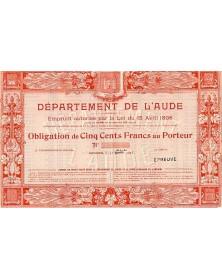 Département de l'Aude - Emprunt