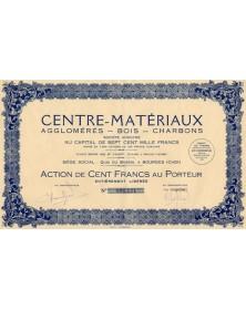 Centre-Matériaux Agglomérés- Bois-Charbons