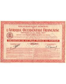 Gouvernement Général de l'Afrique Occidentale Française - 5.5% Loan 1936-1957