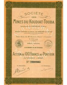 Sté des Mines du Koudiat-Touba