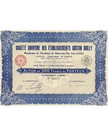S.A. des Ets Gaston Sailly - Manufacture de Porcelaines de Châtres-sur-Cher