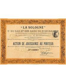 ''La Sologne'' Cie du Gaz & des Eaux de Romorantin