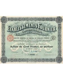 Ets Fournier Comptoirs Généraux d'Alimentation & d'Approv.