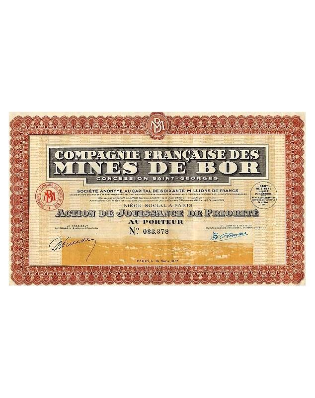 Cie Française des Mines de Bor (Concession St-Georges)