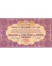 Gouvernement Général de l'Algérie Emprunt 3,5% 1950
