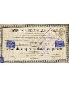 Cie Franco-Algérienne(ch.de fer d'Arzew à Saïda)