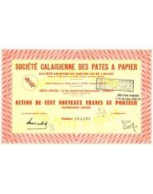 Sté Calaisienne des Pâtes à Papier