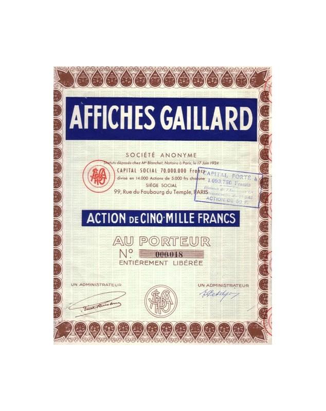 Affiches Gaillard