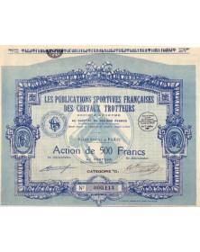Les Publications Sportives Françaises des Chevaux Trotteurs