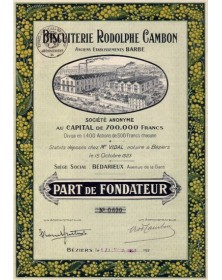 Biscuiterie Rodolphe Cambon - Anciens Ets Barbe