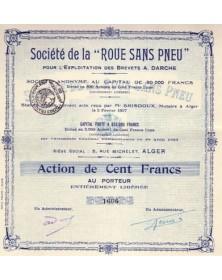 Sté de la ''Roue sans Pneu'', pour l'Exploitation des Brevets A. Darche