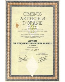 Ciments Artificiels d'Oranie (C.A.D.O.)
