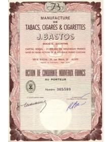 Manufacture de Tabacs, Cigares & Cigarettes J. Bastos