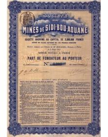 Sté des Mines de Sidi-Bou-Aouane