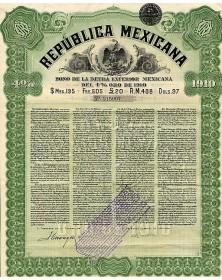 Republica Mexicana (Emprunt Extérieur Mexicain  4% or de 1910)