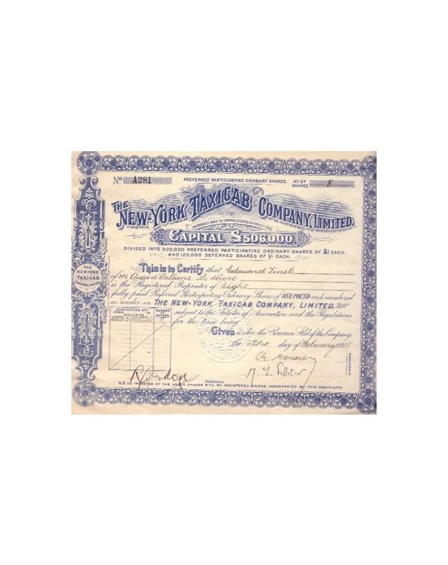 The New York Taxicab Co. Ltd.