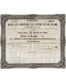 Cie des Mines et Fonderies de Cuivre et de Plomb d'Andalousie, sous la raison A. Brissac et Cie