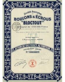 Boulons & Ecrous ''Bloctout''