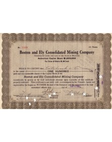 Boston and Ely Consolidated Mining Co.