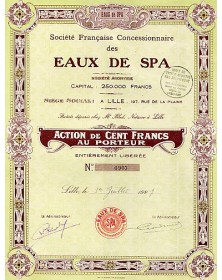 Sté Française Concessionnaire des Eaux de Spa