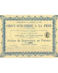 Railroads Cie du Chemin de Fer de Crécy-sur-Serre à La Fère