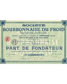 Sté Bourbonnaise du Froid (Conservation d'Oeufs - Procédé Lescardé)