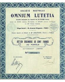 Sté Nouvelle Omnium Lutetia