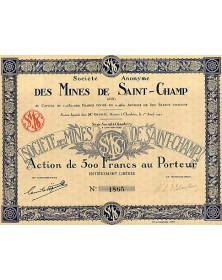 S.A. des Mines de Saint-Champ