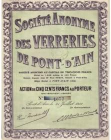 S.A. des Verreries de Pont d'Ain (Ain)