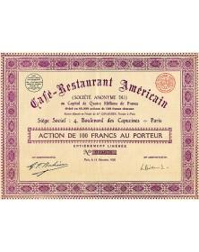 Café-Restaurant Américain