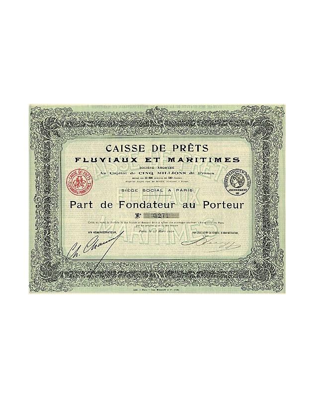 Caisse de Prêts Fluviaux et Maritimes