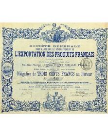 Sté Générale pour L'Exportation des Produits Français