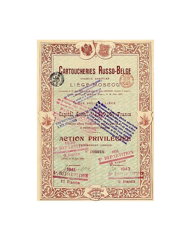 Cartoucheries Russo-Belge S.A. Liège-Moscou