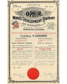 The Ophir Mines Development Co. of Ontario, Ltd.