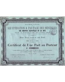 Récup. & Partage des Bénéf. des Brevets Dangivillé et Le Myé pr la Purification des Corps Gras