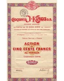 Chocolats J. Klaus S.A.