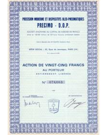 Précision Moderne et Dispositifs Oléo-Pneumatiques - PRECIMO - D.O.P.