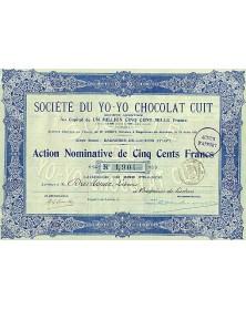 Sté du Yo-Yo Chocolat Cuit