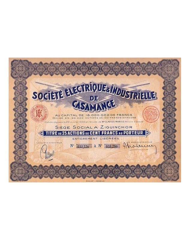 Sté Electrique & Industrielle de Casamance