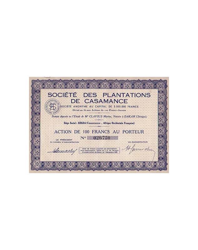 Sté des Plantations de Casamance