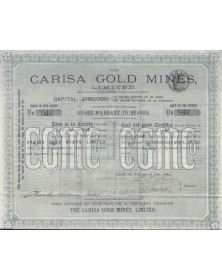 The Carisa Gold Mines,Ltd.(Utah)