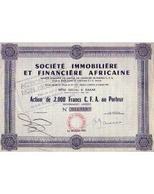 Sté Immobilière et Financière Africaine