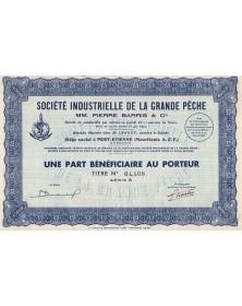 Sté Industrielle de la Grande Pêche. MM. Pierre Barris & Cie