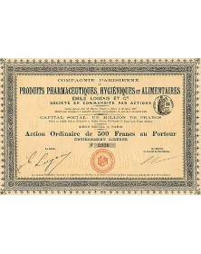 Cie Parisienne de Produits Pharmaceutiques et Alimentaires Emile Logeais et Cie