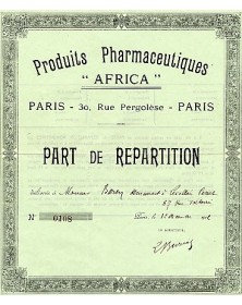 "Produits Pharmaceutiques -Africa-"""""