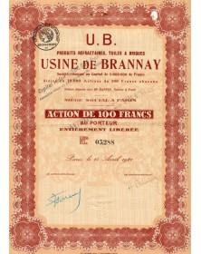 Usine de Brannay, Produits réfractaires, Tuiles et Briques