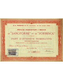 Le ''Sanoforme'' et le ''Forminol''
