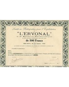 """Sté pour l'Exploitation de -L'Ervonal-"""" et de Spécialités Pharmaceutiques"""""""
